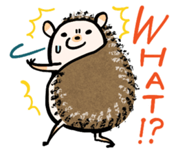 Hedgehog Charactor Stamp sticker #550046