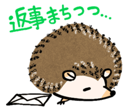 Hedgehog Charactor Stamp sticker #550047