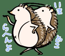 Hedgehog Charactor Stamp sticker #550048