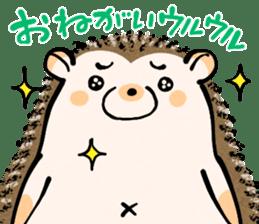 Hedgehog Charactor Stamp sticker #550049