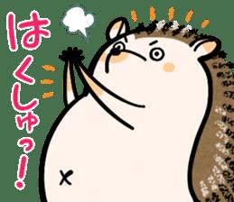 Hedgehog Charactor Stamp sticker #550051