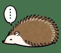 Hedgehog Charactor Stamp sticker #550056