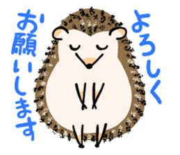 Hedgehog Charactor Stamp sticker #550059