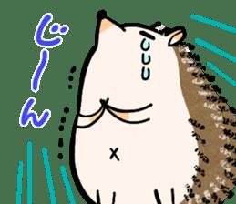 Hedgehog Charactor Stamp sticker #550060