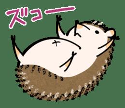 Hedgehog Charactor Stamp sticker #550062