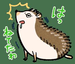 Hedgehog Charactor Stamp sticker #550063