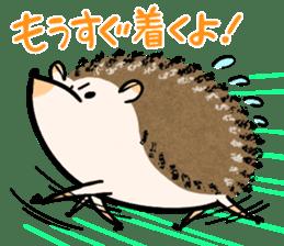 Hedgehog Charactor Stamp sticker #550064
