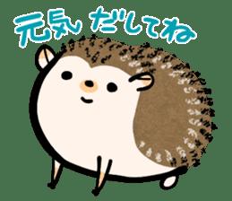 Hedgehog Charactor Stamp sticker #550065