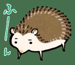 Hedgehog Charactor Stamp sticker #550068