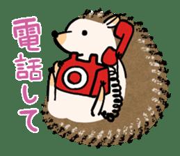Hedgehog Charactor Stamp sticker #550069
