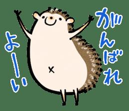 Hedgehog Charactor Stamp sticker #550070