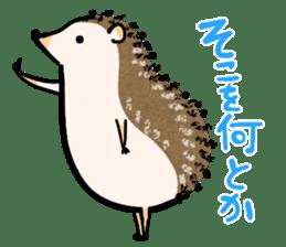 Hedgehog Charactor Stamp sticker #550071