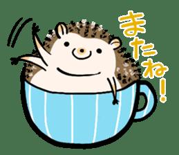 Hedgehog Charactor Stamp sticker #550072