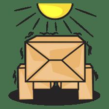 Torro, the cardboard box robot sticker #551283
