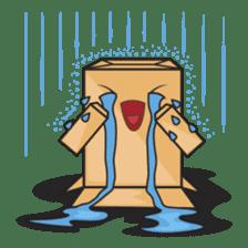 Torro, the cardboard box robot sticker #551286