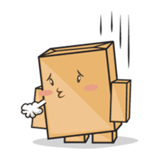 Torro, the cardboard box robot sticker #551287