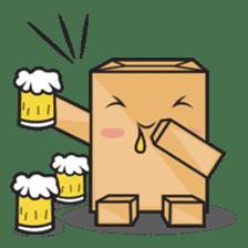 Torro, the cardboard box robot sticker #551291