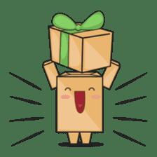 Torro, the cardboard box robot sticker #551293