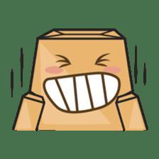 Torro, the cardboard box robot sticker #551297