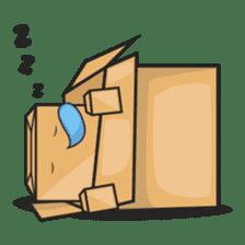 Torro, the cardboard box robot sticker #551304