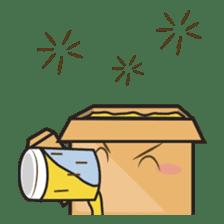 Torro, the cardboard box robot sticker #551307