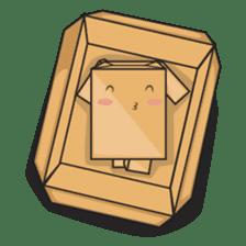 Torro, the cardboard box robot sticker #551310
