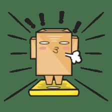 Torro, the cardboard box robot sticker #551311