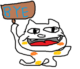japanese cat mikeneko sticker #552553