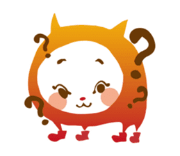 Colorful cats sticker #552914