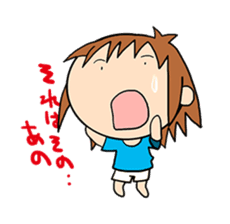 """""""O-chan"""" hot-blooded girl sticker #553676"""