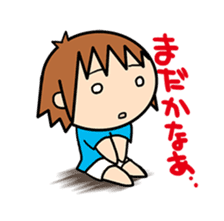 """""""O-chan"""" hot-blooded girl sticker #553703"""