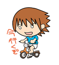 """""""O-chan"""" hot-blooded girl sticker #553708"""