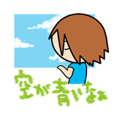 """""""O-chan"""" hot-blooded girl sticker #553712"""