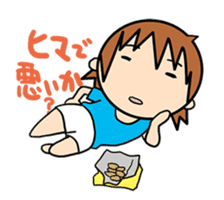 """""""O-chan"""" hot-blooded girl sticker #553713"""