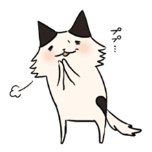 soothing cat HANACHAN sticker #554859