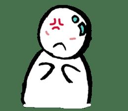 The white cute Man sticker #555955