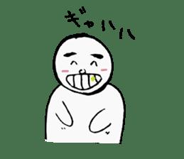 The white cute Man sticker #555968