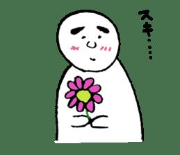 The white cute Man sticker #555973