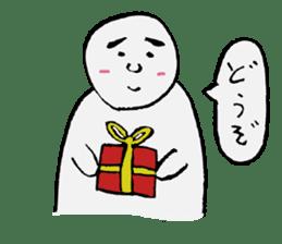 The white cute Man sticker #555976
