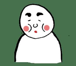 The white cute Man sticker #555979