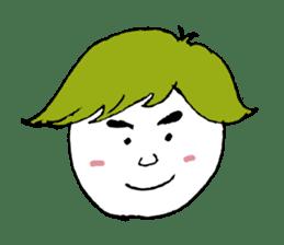 The white cute Man sticker #555981