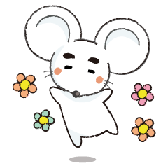 MAROMAYU mouse Sticker