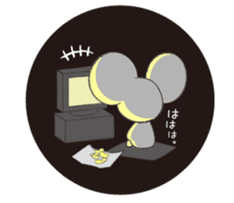 MAROMAYU mouse Sticker sticker #556269