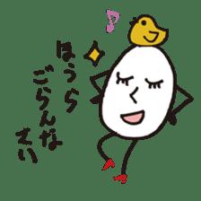 Lady-Tamako-boiled egg sticker #556717