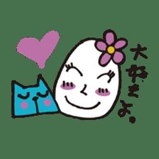 Lady-Tamako-boiled egg sticker #556720