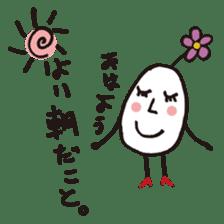 Lady-Tamako-boiled egg sticker #556723