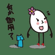 Lady-Tamako-boiled egg sticker #556747