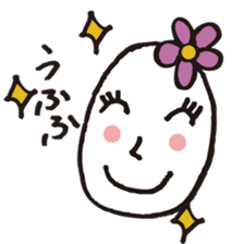 Lady-Tamako-boiled egg sticker #556751