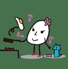 Lady-Tamako-boiled egg sticker #556753