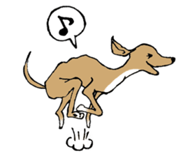 The Italian Greyhound festival! sticker #557574